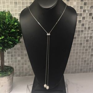 Vince Camuto New (V) Double pearl drop necklace